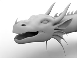 Clay rendering of a dragon