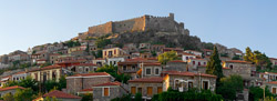 Panorama photo of castle of Molyvos