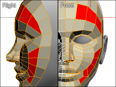 Modeling a face in 3ds max for 3ds max face modeling