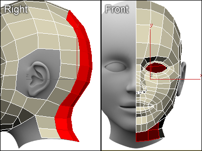 Modeling a head and a neck in 3ds max for 3ds max face modeling