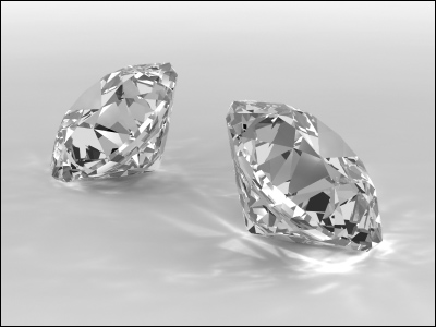 3DS MAX Mental Ray diamonds