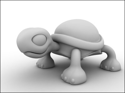 Picture 1. Clay render with Mental Ray in 3DS MAX.