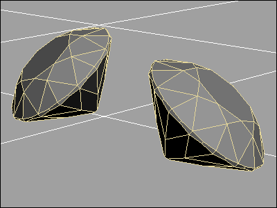 Diamond 3D model in 3D Studio MAX