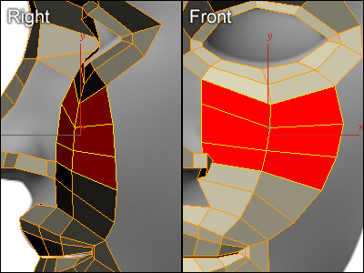 Modeling a nose in 3ds max for 3ds max face modeling