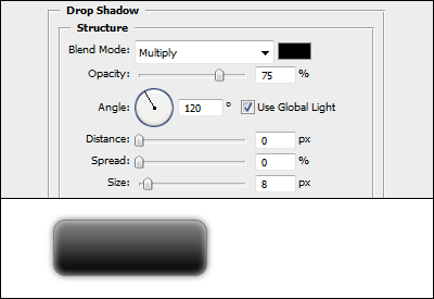 Drop shadow effect