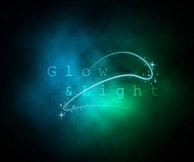 light and glow effect in photoshop